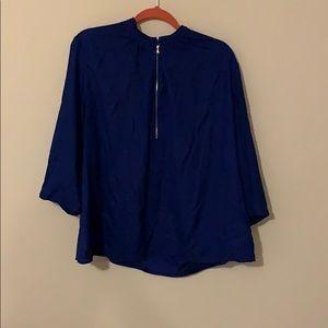 Dark blue fashion blouse